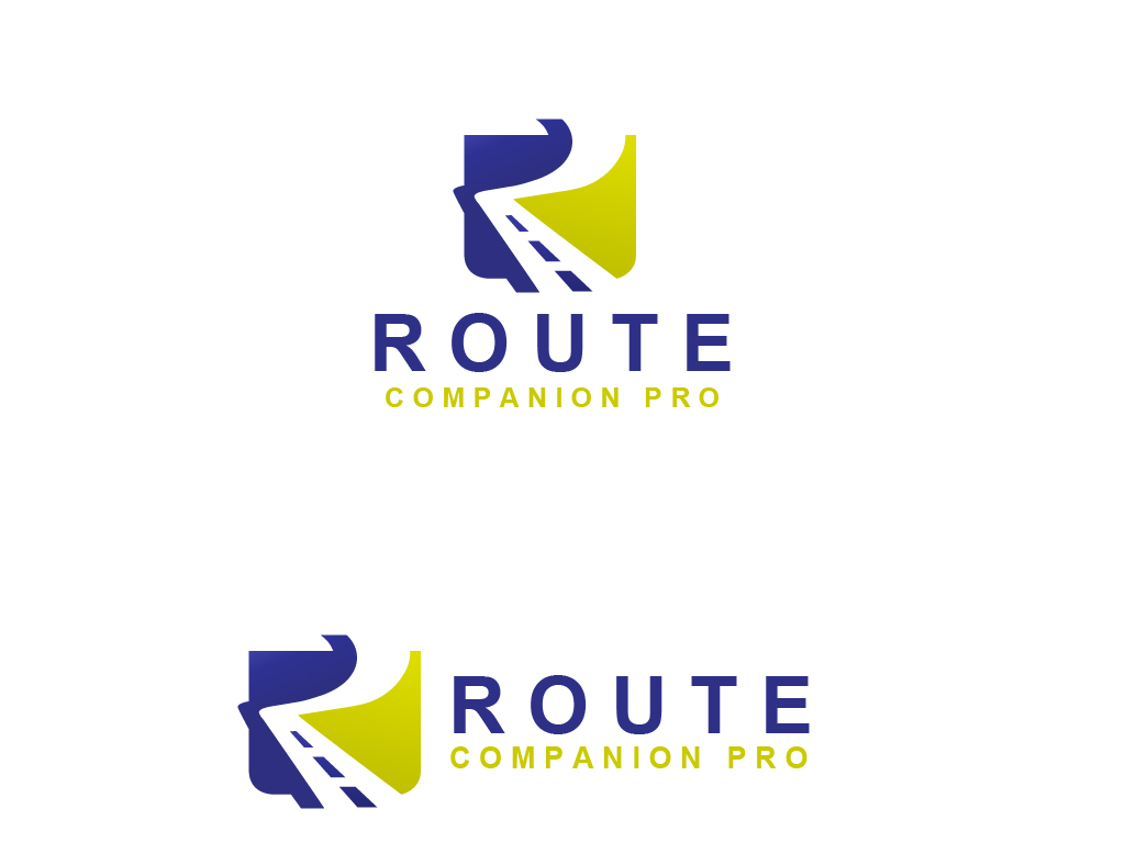 Elegant playful software logo design for route companion for Logo drawing software
