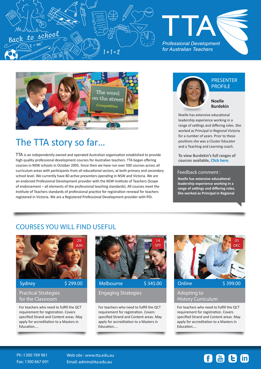 Modern serious newsletter design for tta by rkailas for Modern newsletter design