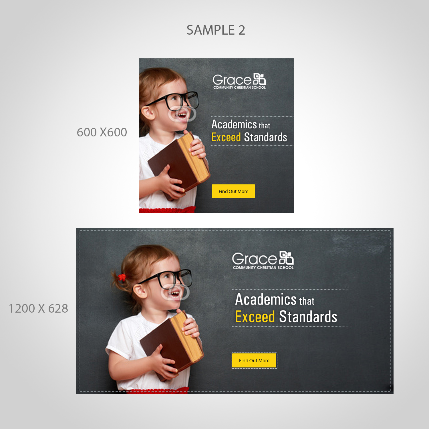 elegant playful education banner ad design for a company by