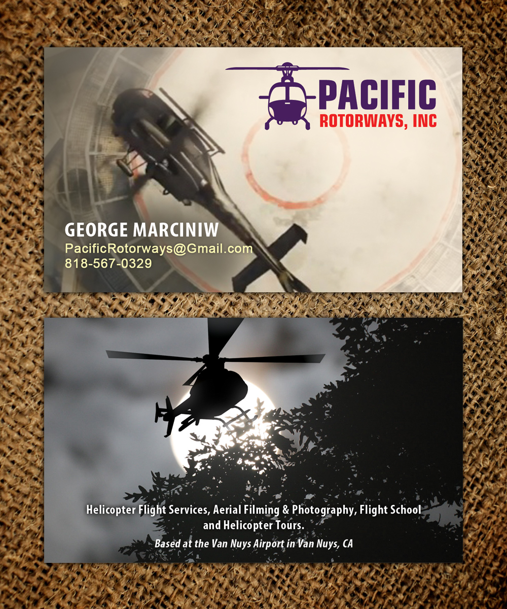 Business business card design for pacific rotorways inc by business business card design for pacific rotorways inc in united states design 8530273 reheart Images