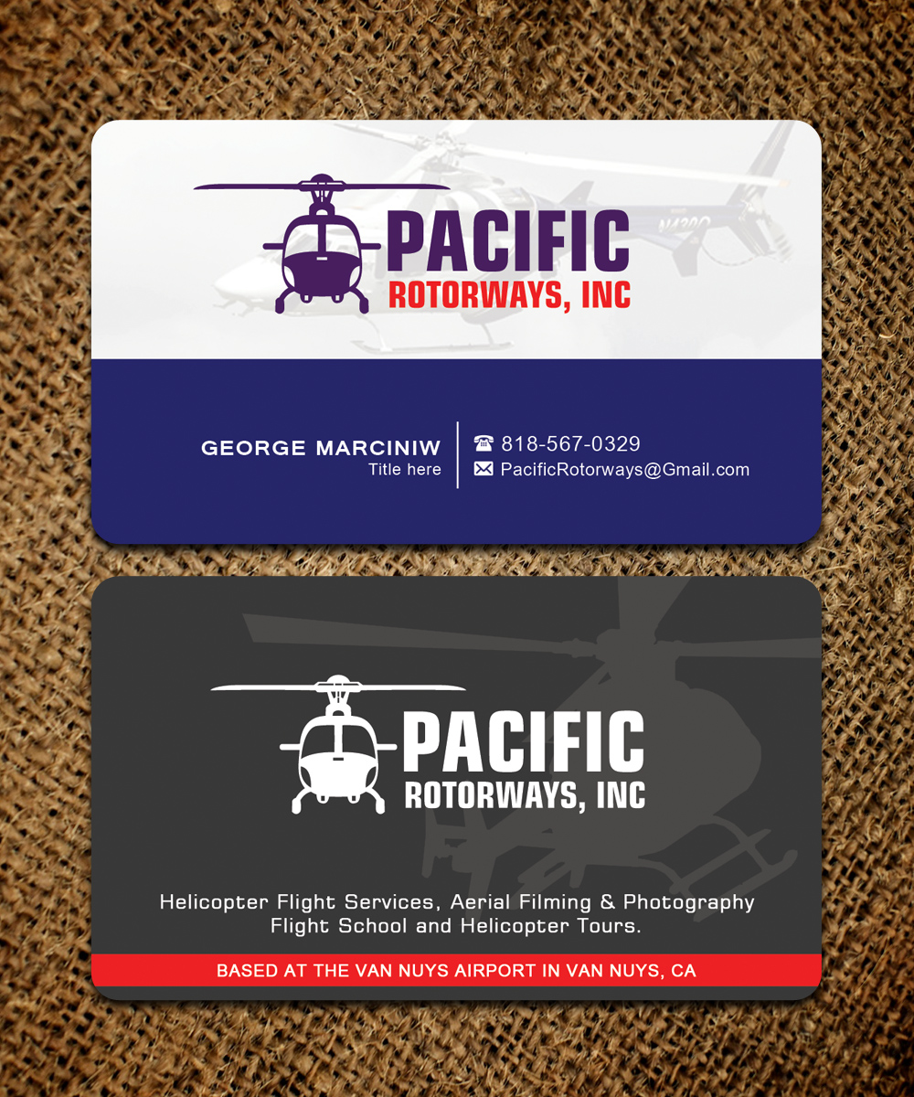 Business business card design for pacific rotorways inc by business business card design for pacific rotorways inc in united states design 8531832 reheart Choice Image