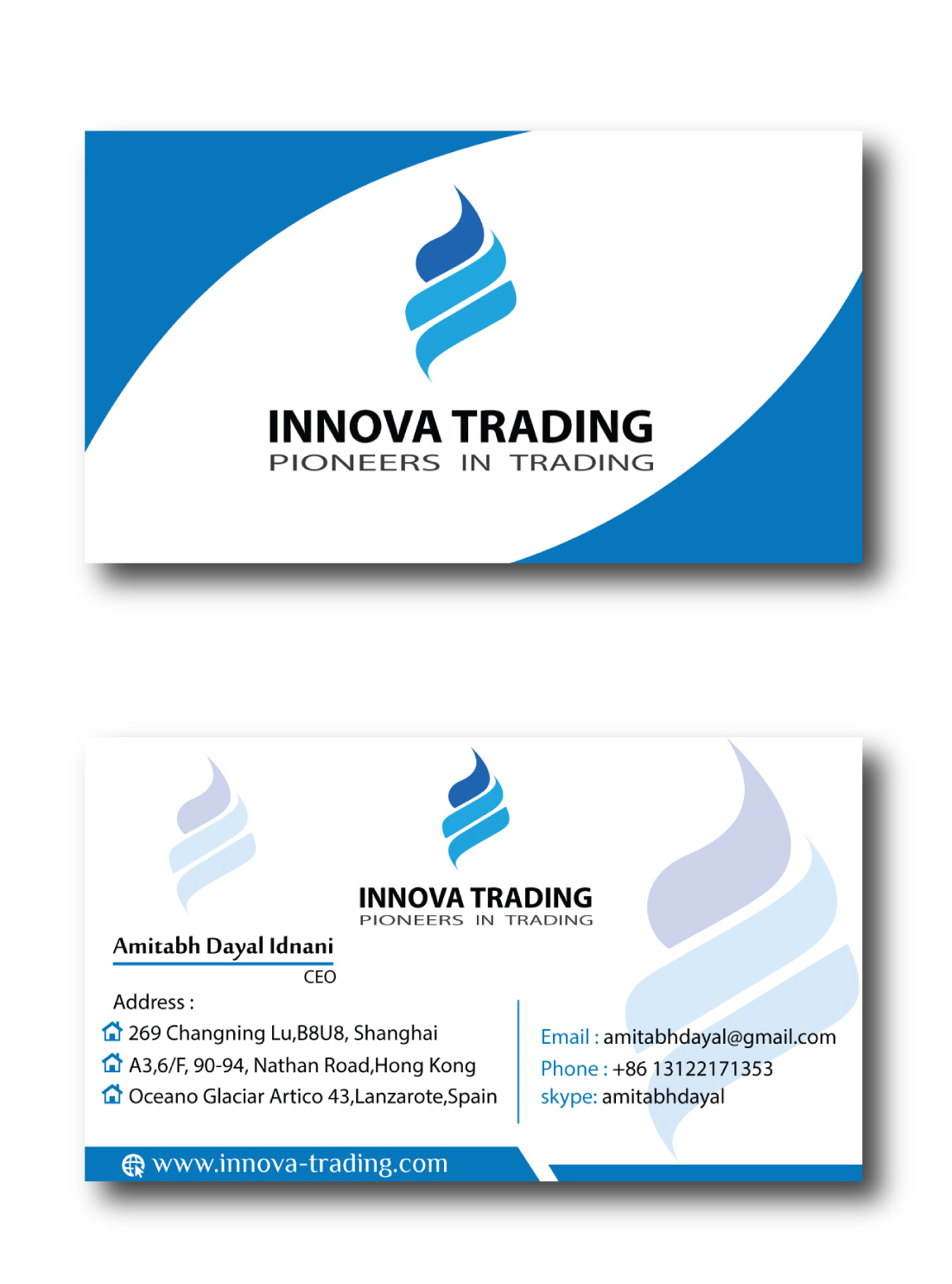 Serious, Modern, Trade Business Card Design for a Company by Maruff ...
