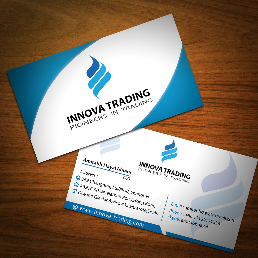 Serious, Modern Business Card Design for amitabh dayal by Maruff ...