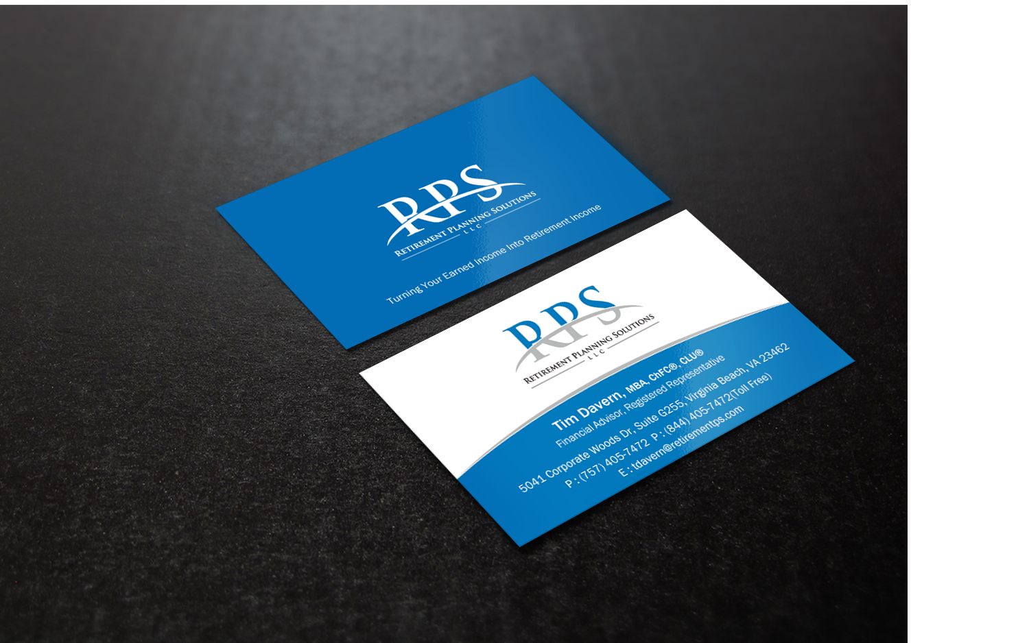 Conservative upmarket financial planning business card design for business card design by brand aid for retirement planning solutions design 8961016 reheart Choice Image