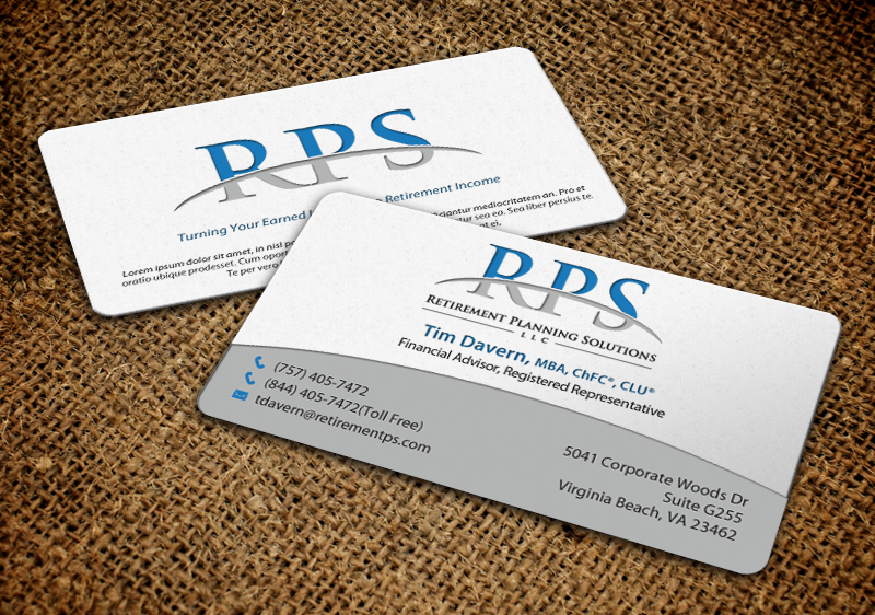 Conservative upmarket financial planning business card design for business card design by chandrayaaneative for retirement planning solutions design 8767394 reheart Choice Image