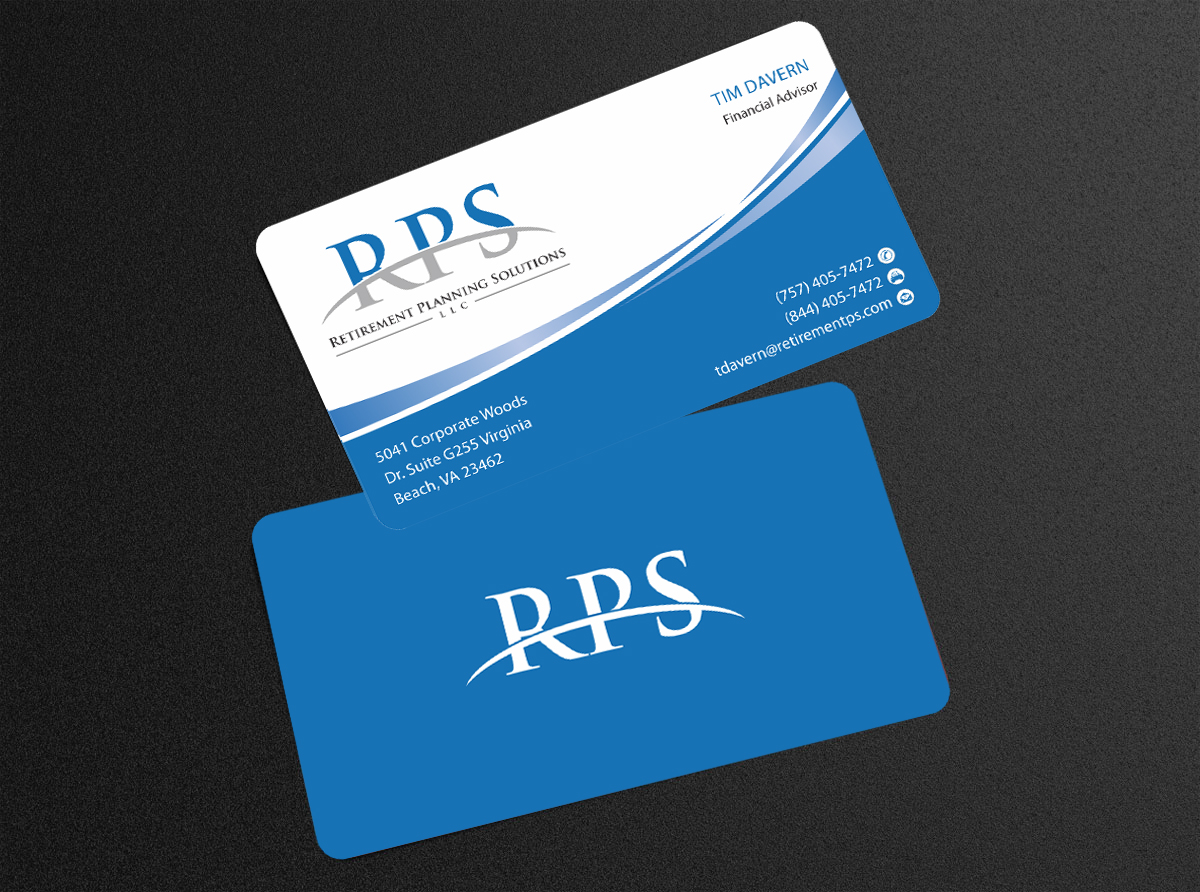 Conservative Upmarket Financial Planning Business Card Design For
