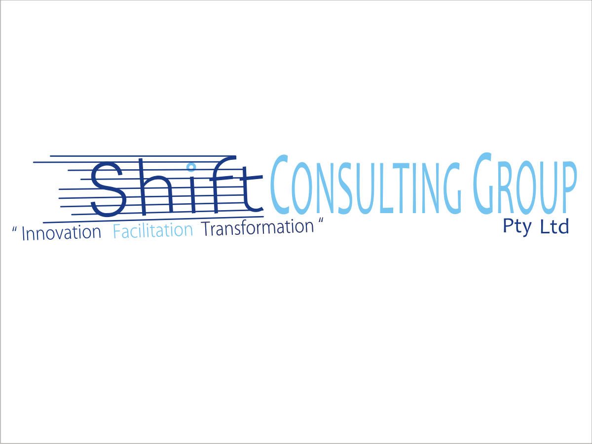 Modern bold logo design for shift consulting group pty for Outer space design group pty ltd