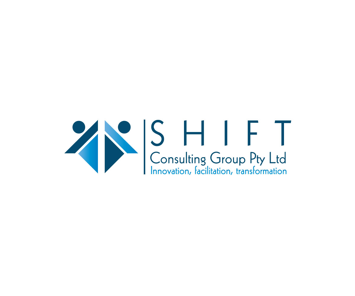 Modern bold training logo design for shift consulting for Outer space design group pty ltd