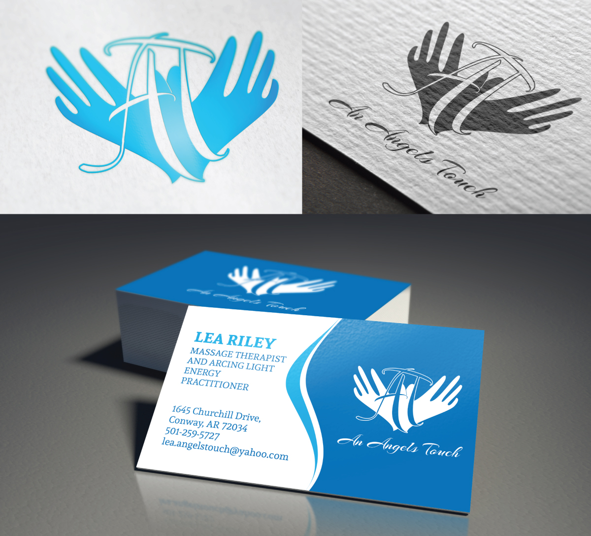 Feminine, Elegant, Massage Therapy Business Card Design for a ...