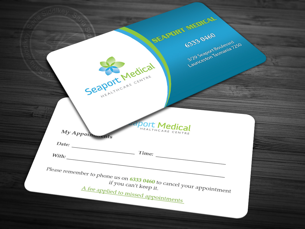 Business business card design for seaport medical healthcare centre business card design by saria siddiqui for seaport medical healthcare centre design 8768599 reheart Choice Image
