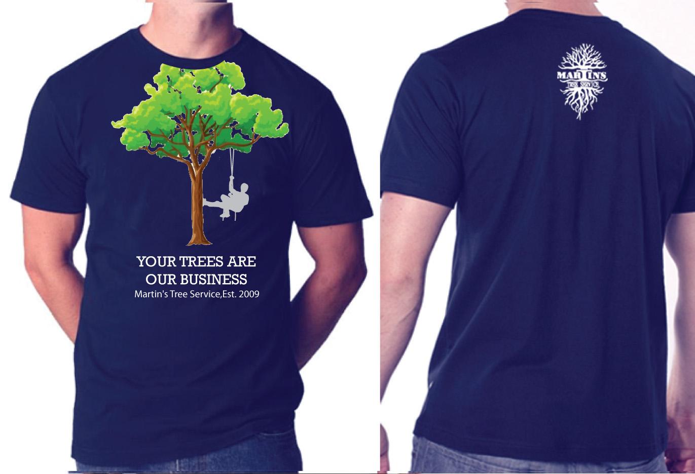 Elegant playful work t shirt design for martins tree for T shirt design service