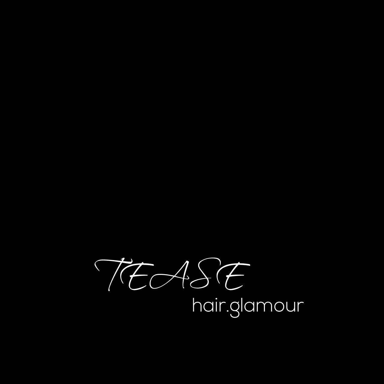 upmarket professional hair logo design for tease hair glamour by