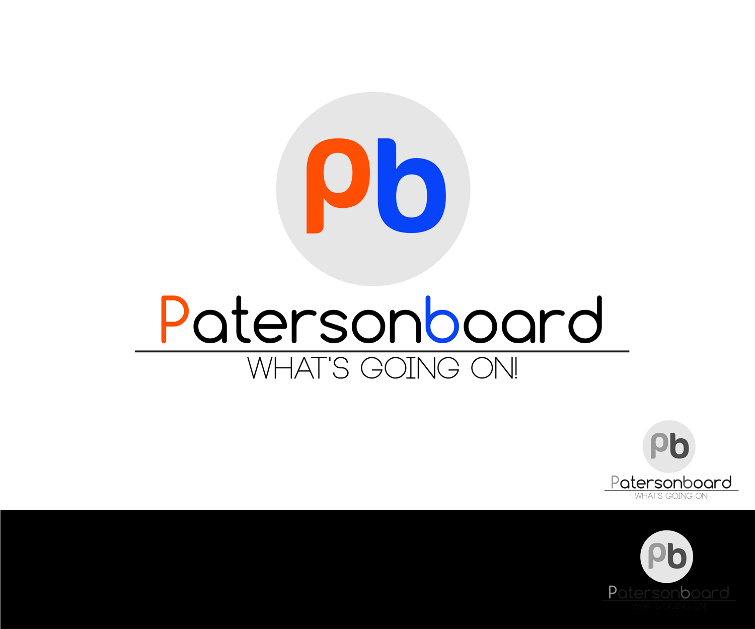 Bold Modern Business Logo Design For Patersonboard Emphasis On Pb