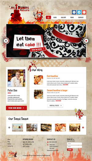 Web Design by Alex D - Restaurant Site Design (Not html)