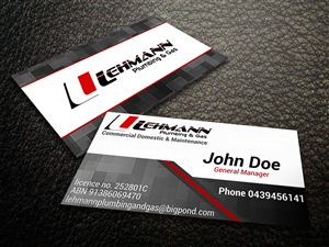 Business Card Design by Giovanni - plumbing & gas fitting business card design