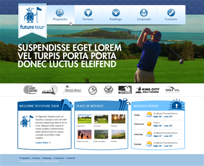 Golf Wordpress Design Branding 412114