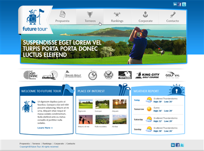 Golf Wordpress Design Branding 416268