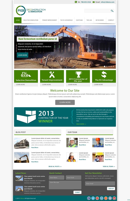 Masculine bold construction web design for eco evolver for Masculine web design