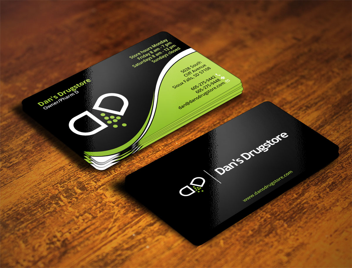 Pharmacy Business Card Design Galleries for Inspiration