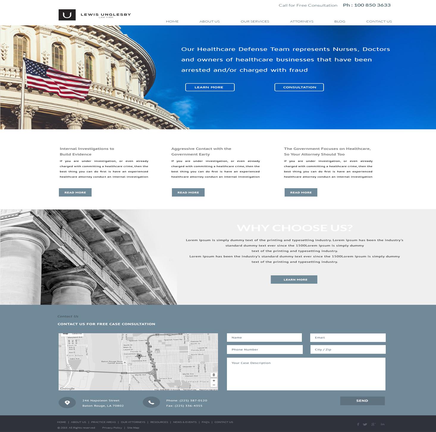 Masculine conservative web design for logan logan for Masculine web design