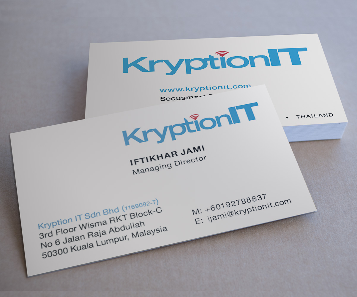 Masculine, Serious, Information Technology Business Card Design for ...