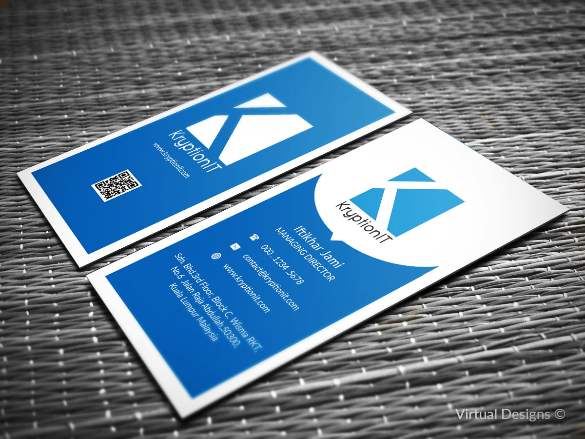 Masculine serious information technology business card design for business card design by virtual designs for this project design 9193297 reheart Image collections