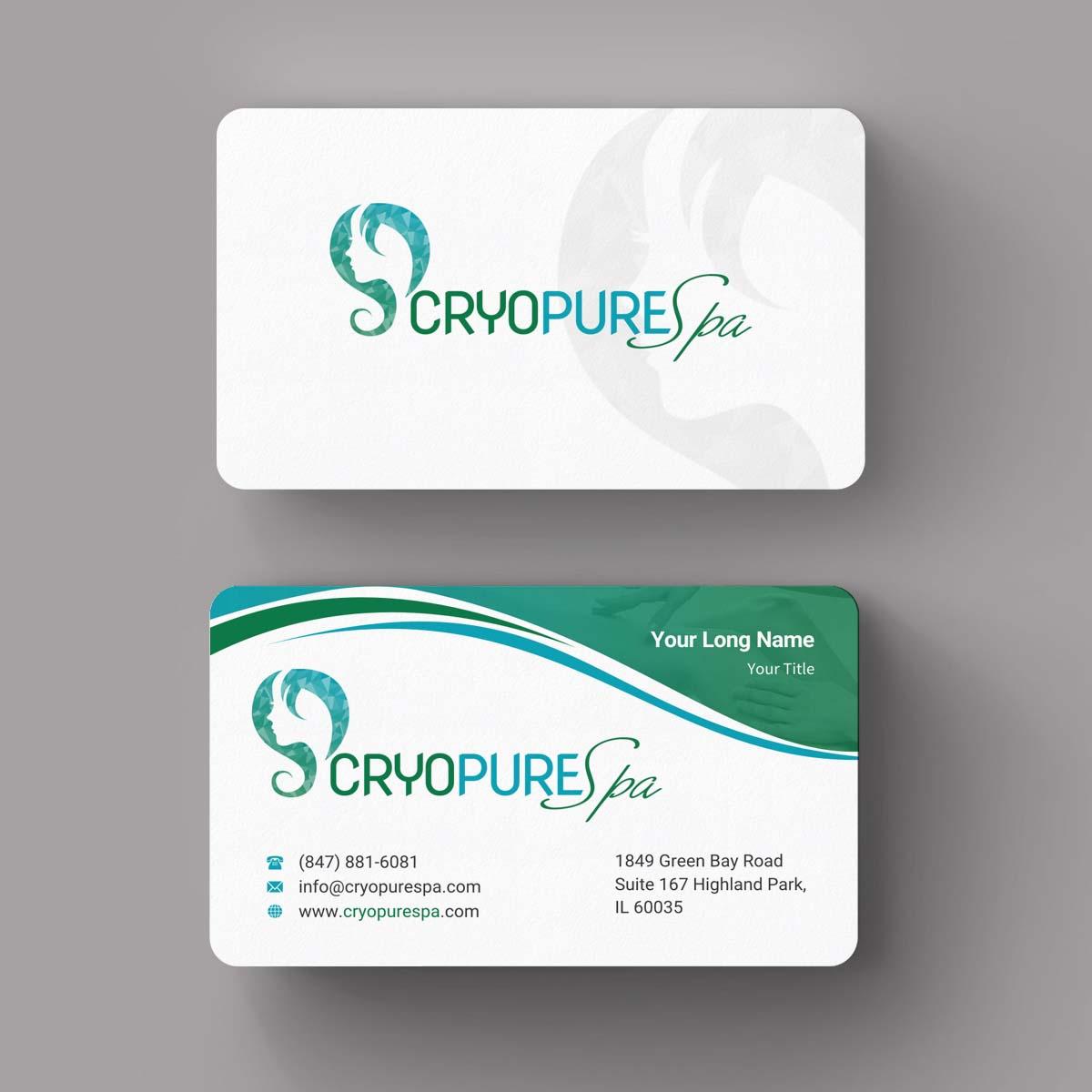 Design De Carte Visite Par INDIAN Ashok Pour CryoPure Spa LLC