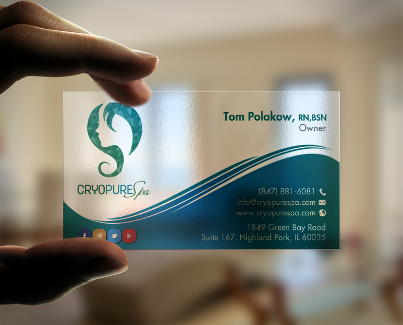 Design De Carte Visite Par Chandrayaancreative Pour CryoPure Spa LLC