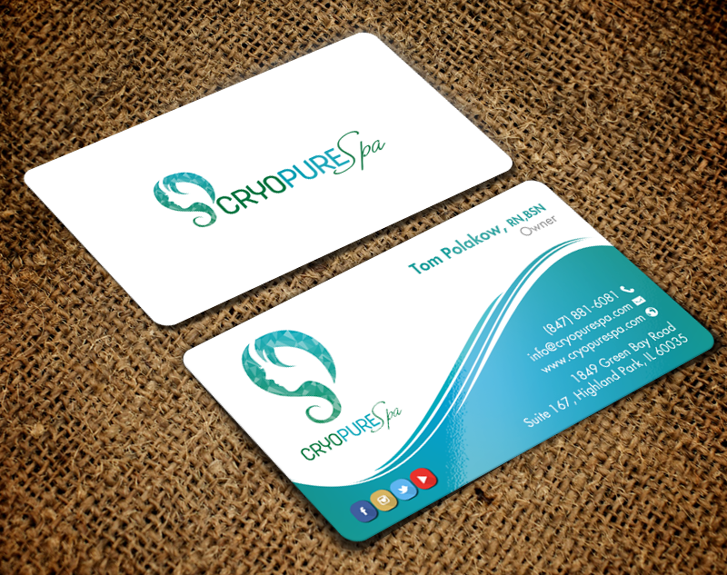 231 elegant business card designs business business card design business card design by chandrayaaneative for cryopure spa llc design reheart Choice Image