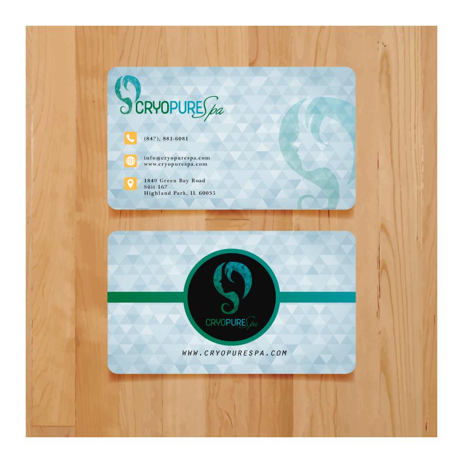 Design De Carte Visite Par Safak Kocak Pour CryoPure Spa LLC