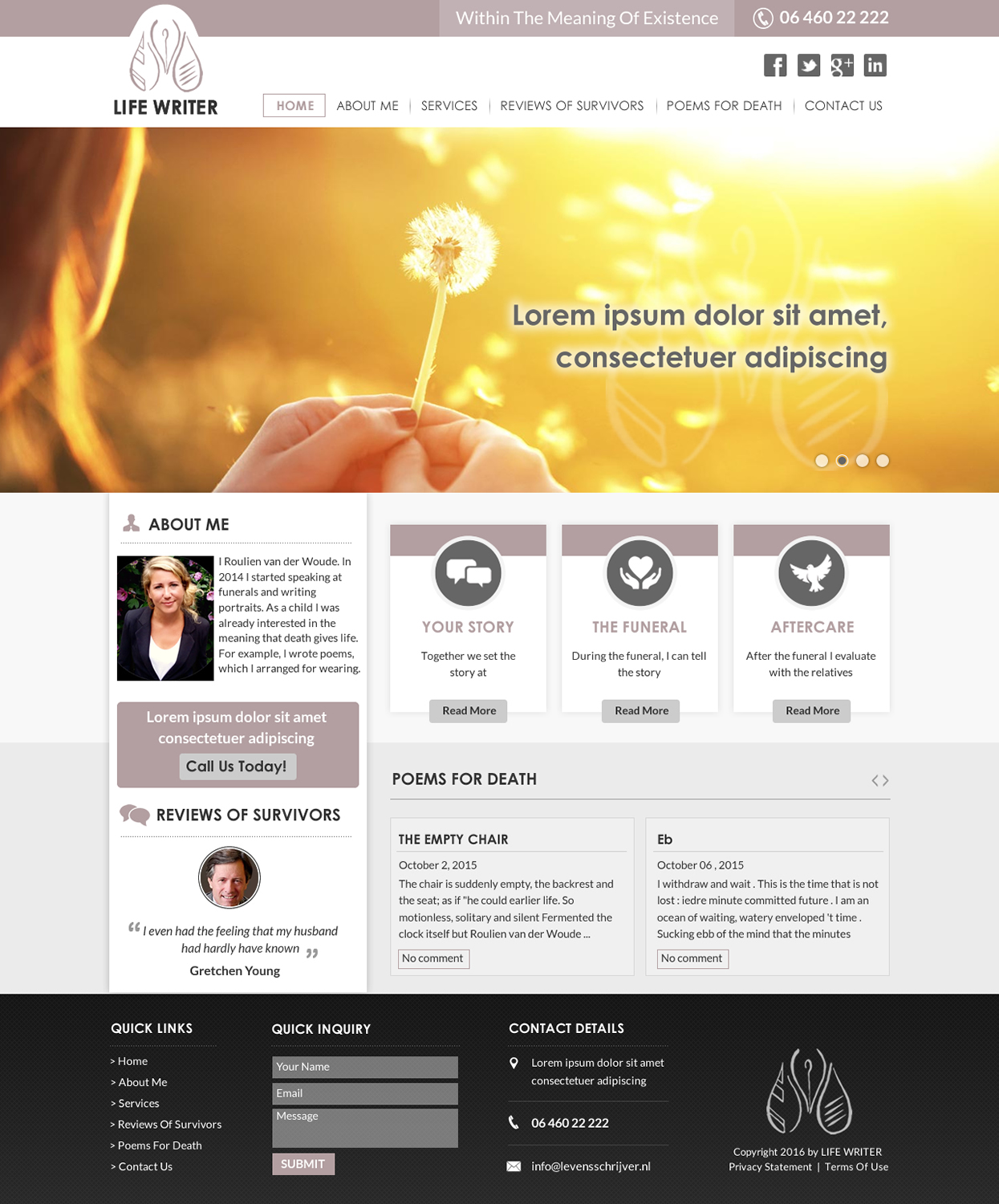 Feminine, Elegant, Business Web Design for Simplified Sales