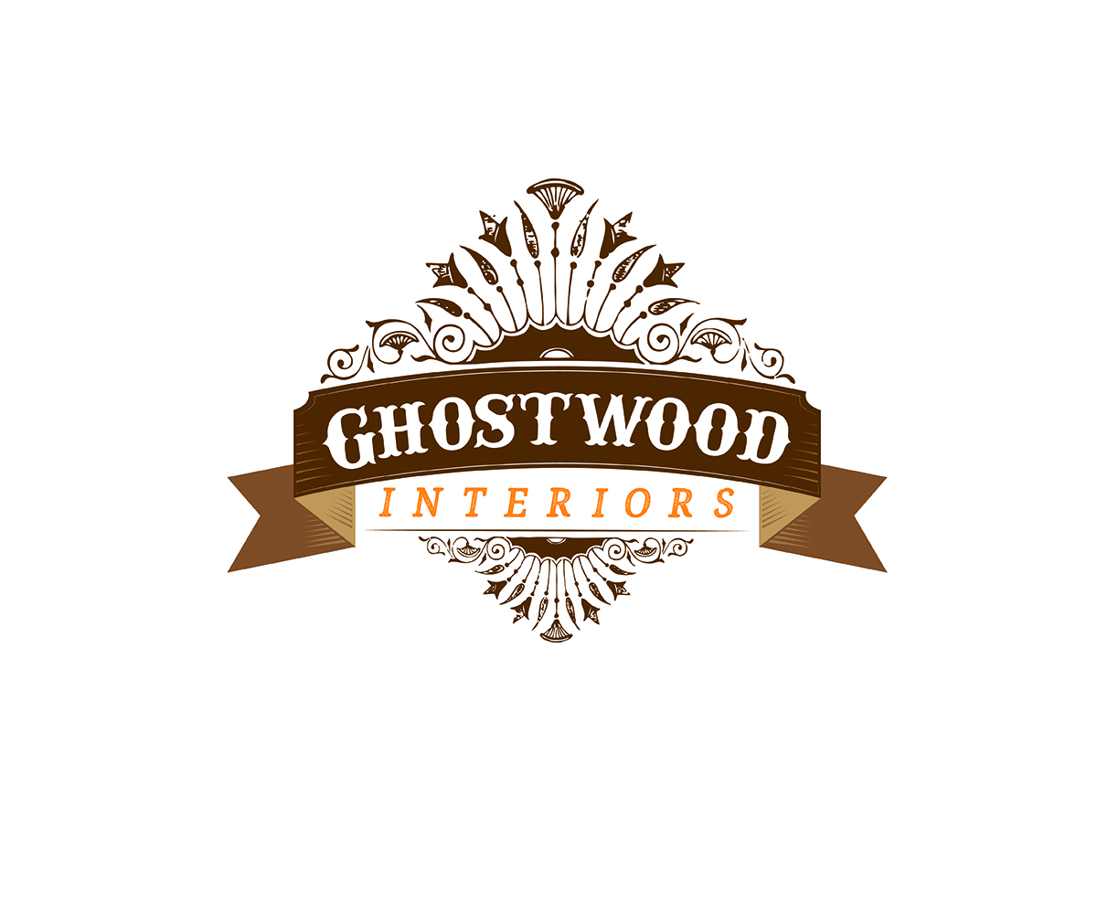 audacieux traditionnel furniture store design de logo for ghostwood interiors by curly cat lab. Black Bedroom Furniture Sets. Home Design Ideas