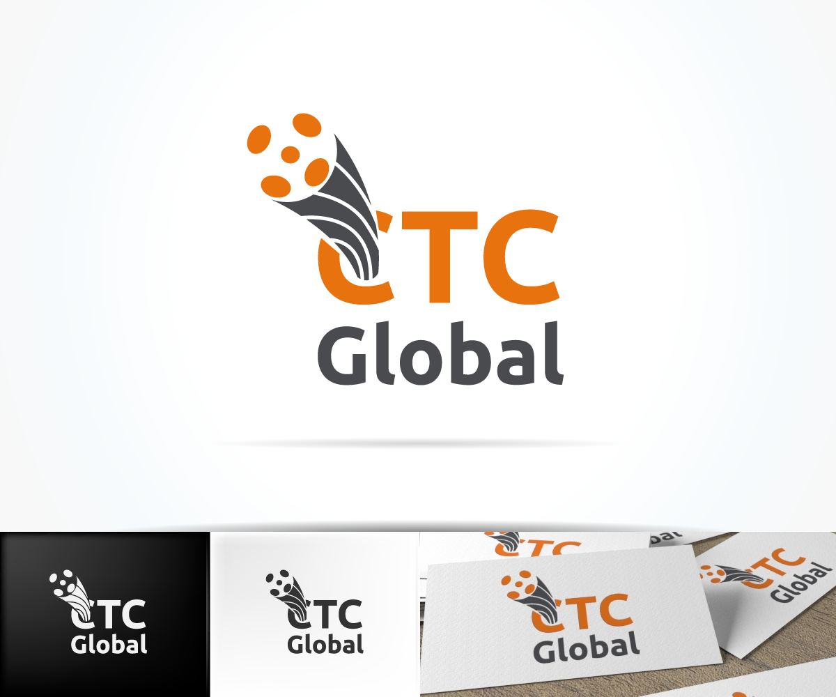 Modern professionell electric company logo design for for Global design company