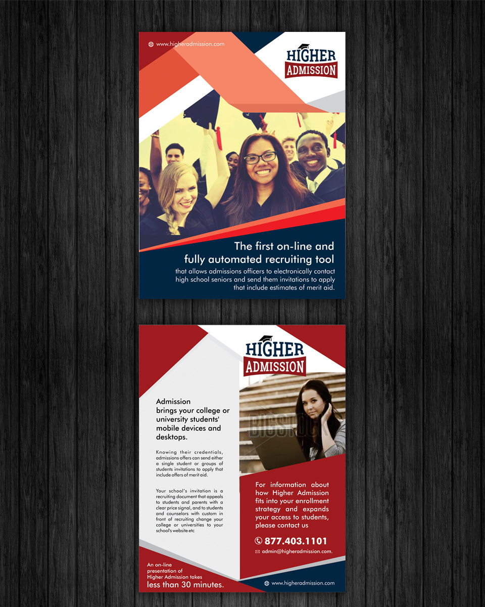 Upmarket, Bold, Education Flyer Design for a Company by ecorokerz