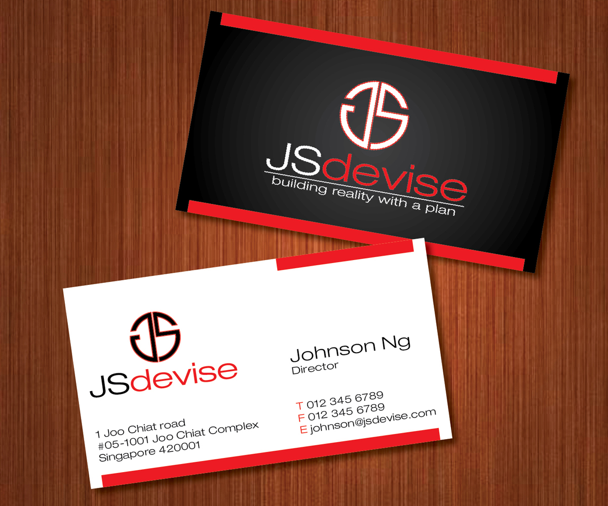 Elegant, Playful, Contractor Business Card Design for a Company by ...