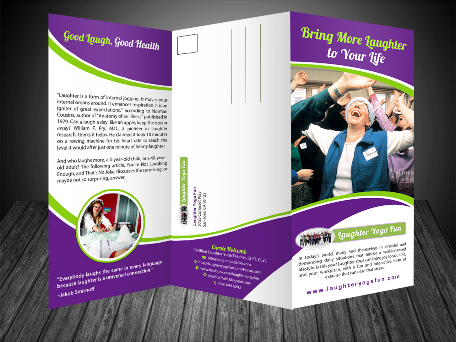 Elegant, Traditional Flyer Design for Laughter Yoga Fun by ... on animation flyer, illustrator flyer, design flyer, flex flyer, sharepoint flyer, software flyer, iphone flyer, microsoft flyer, twitter flyer, seo flyer, soap flyer, psd flyer,