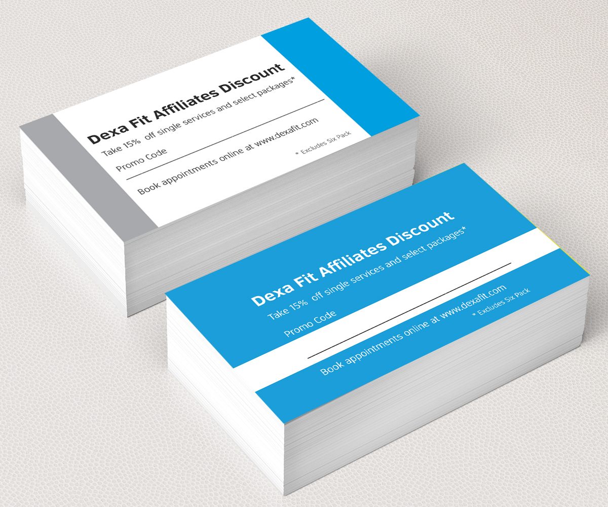 Modern professional fitness business card design for a company by business card design by nithya for this project design 9228252 reheart Image collections