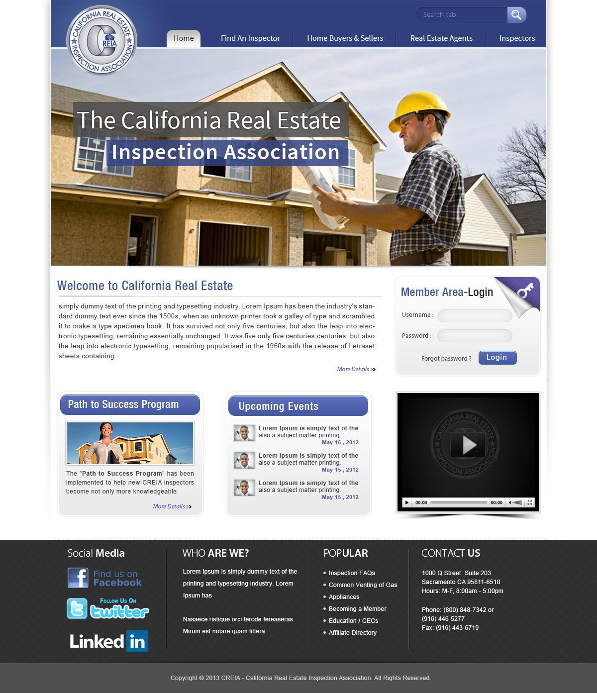 audacieux moderne non profit web design for home inspector pro by webxvision design 2044631