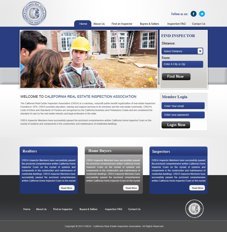 bold modern non profit web design for home inspector pro by creative hub design 2088531