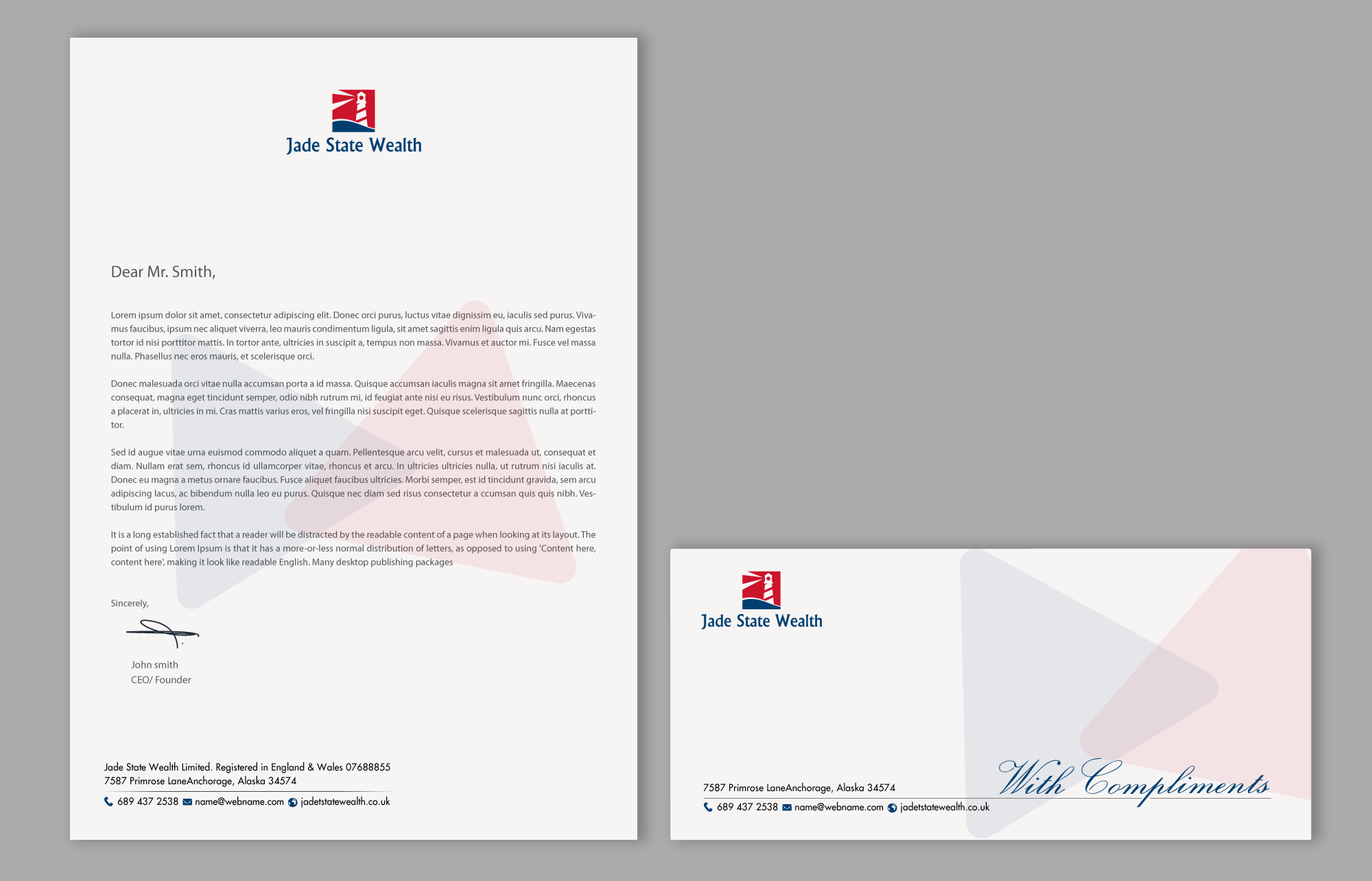 Modern Professional Stationery Design for Jade State Wealth