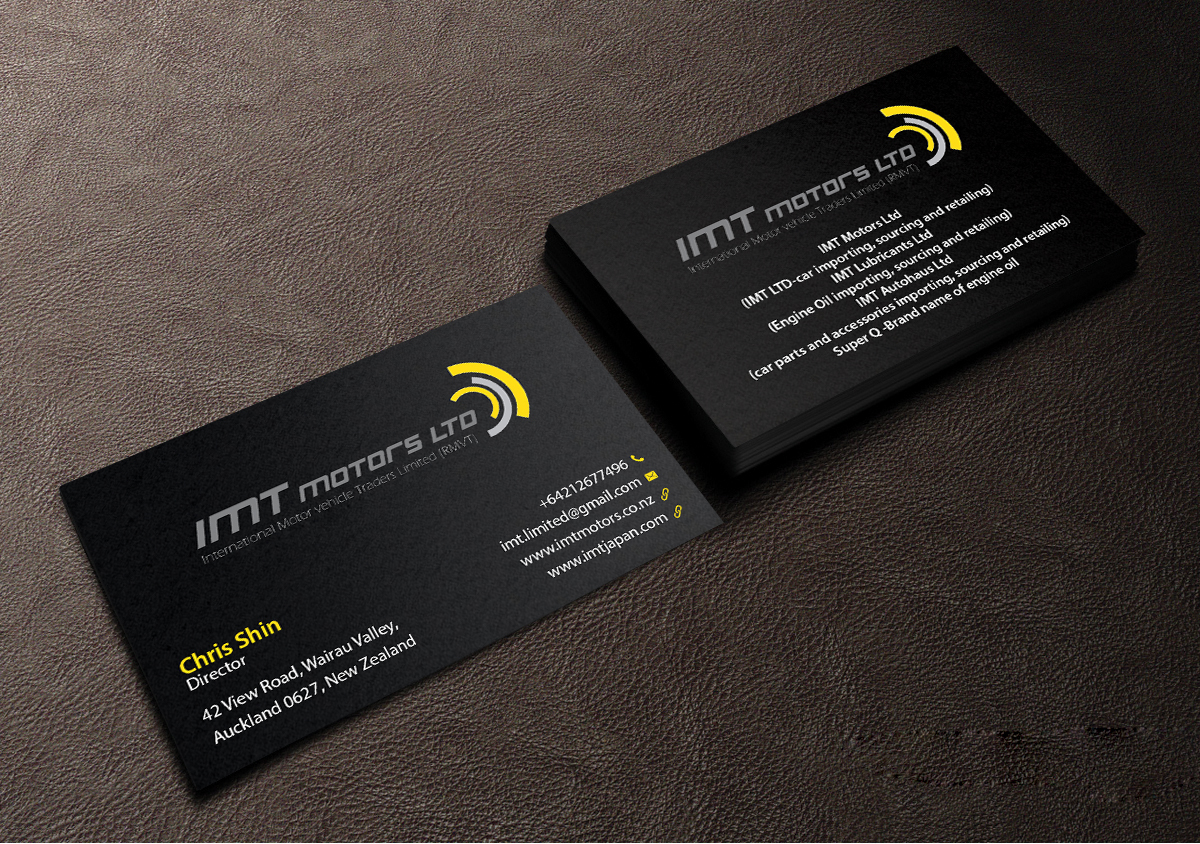 Professional, Upmarket Business Card Design for IMT Ltd by ...