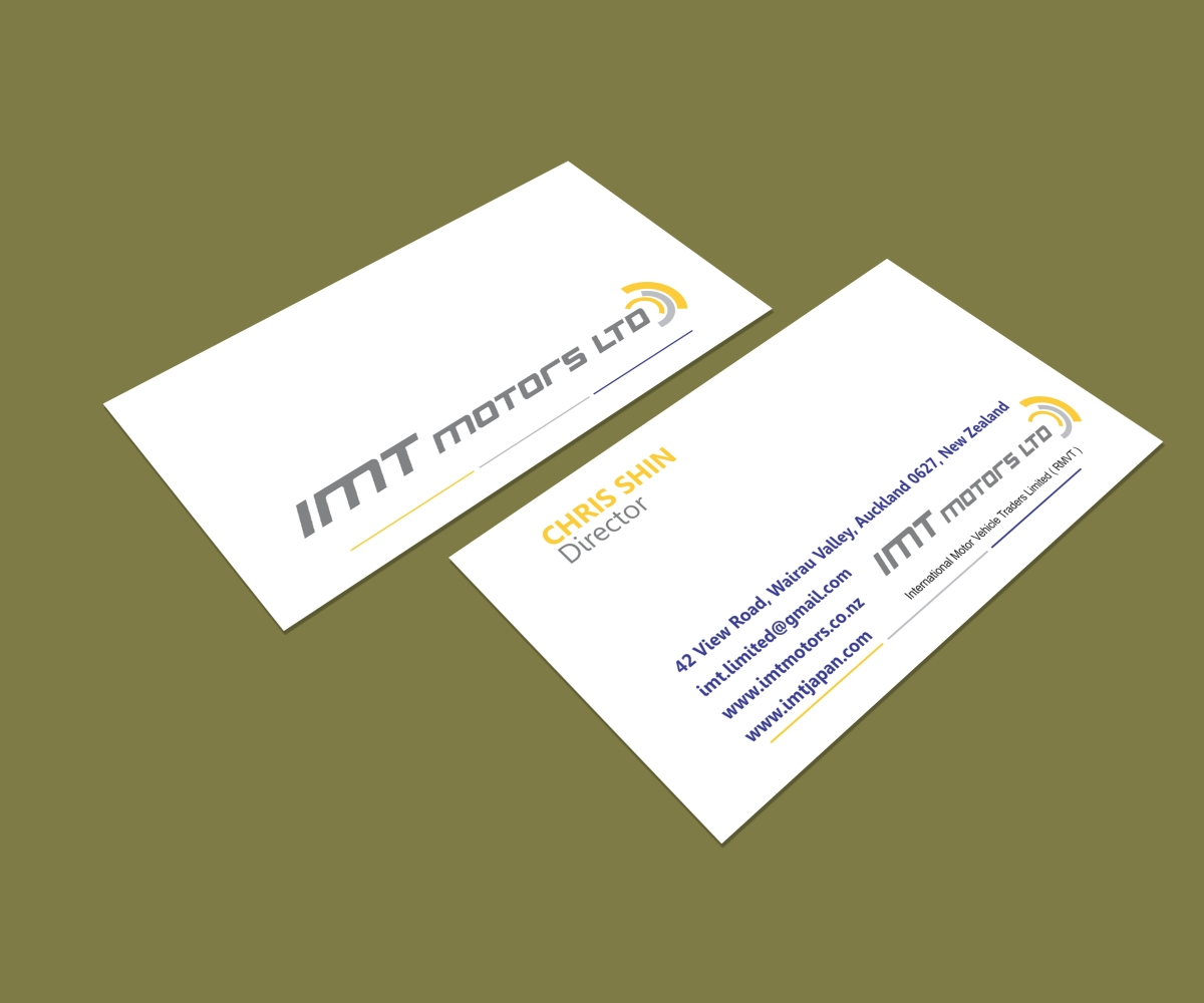 Professional upmarket car dealer business card design for imt ltd business card design by matoshreedesign for imt ltd design 9266293 colourmoves
