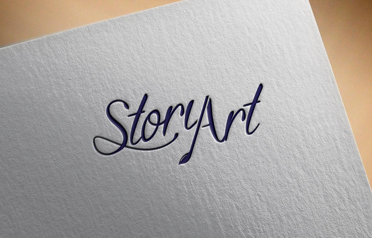 upmarket elegant artists logo design for story art by