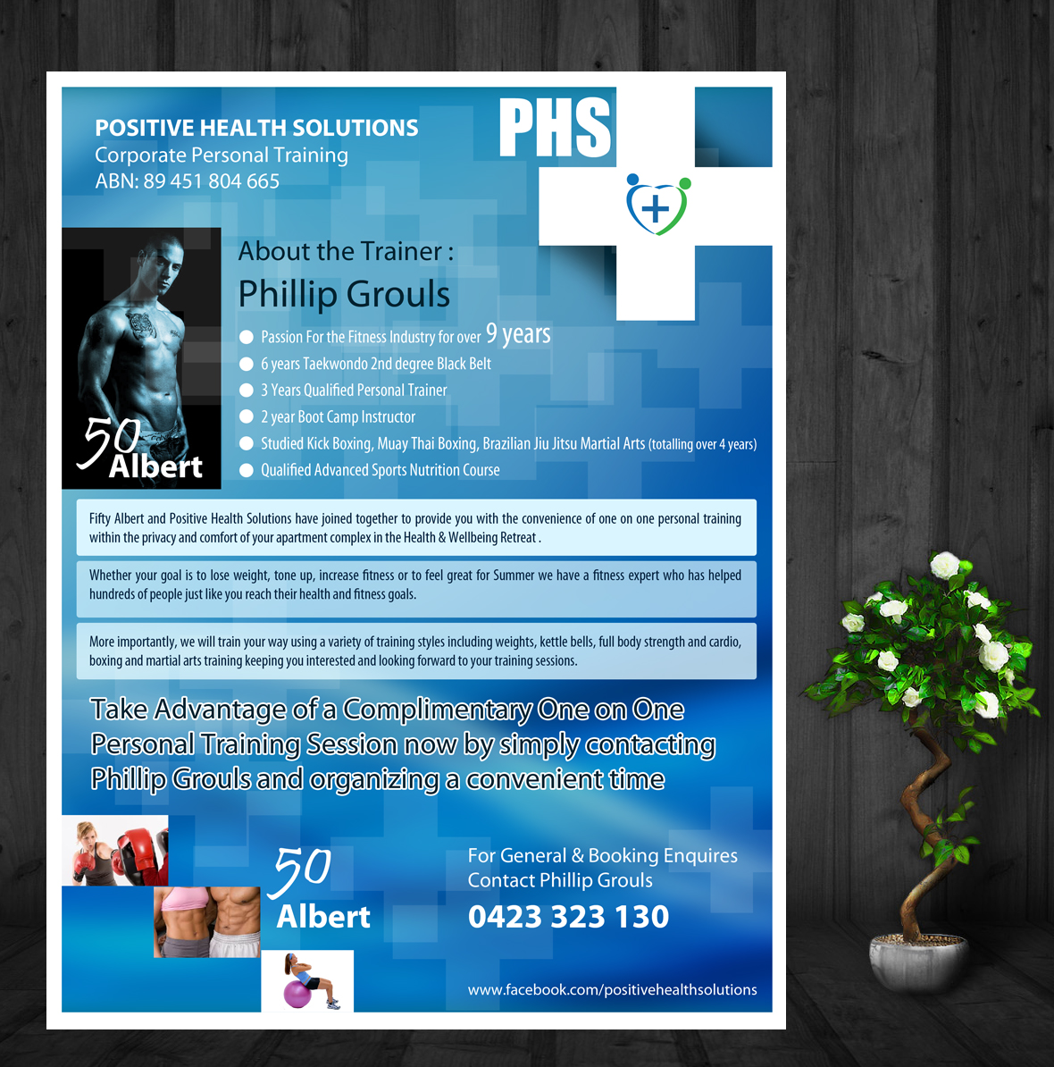 Modern, Colorful, Apartment Flyer Design for Positive Health