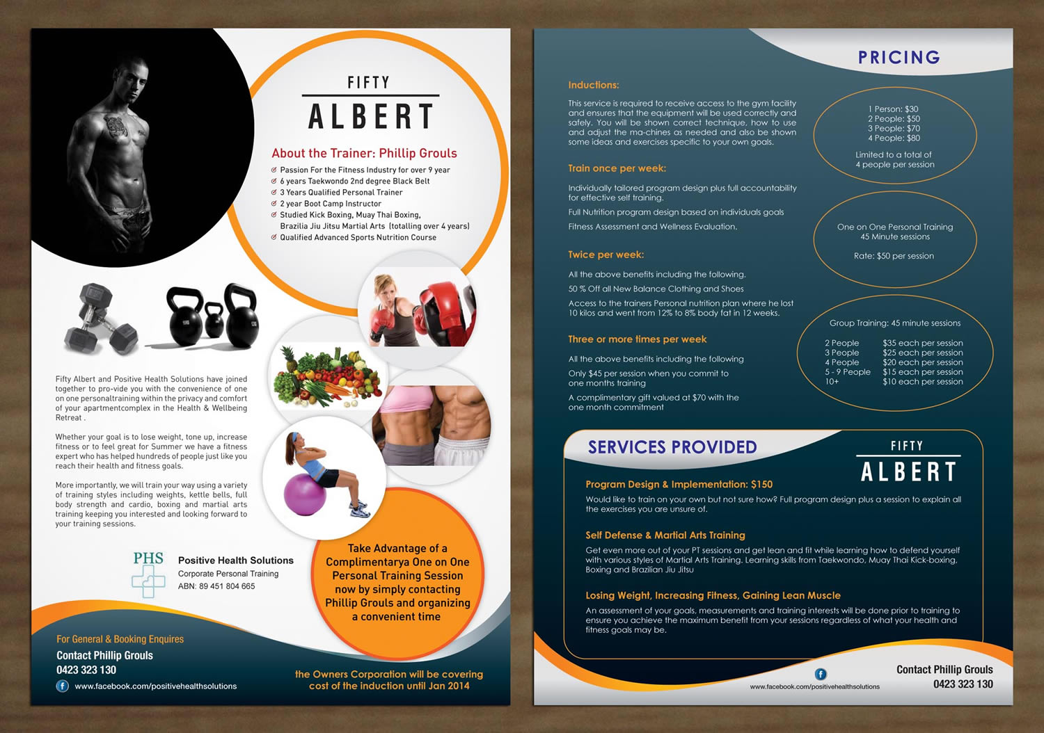 modern colorful apartment flyer design for positive health