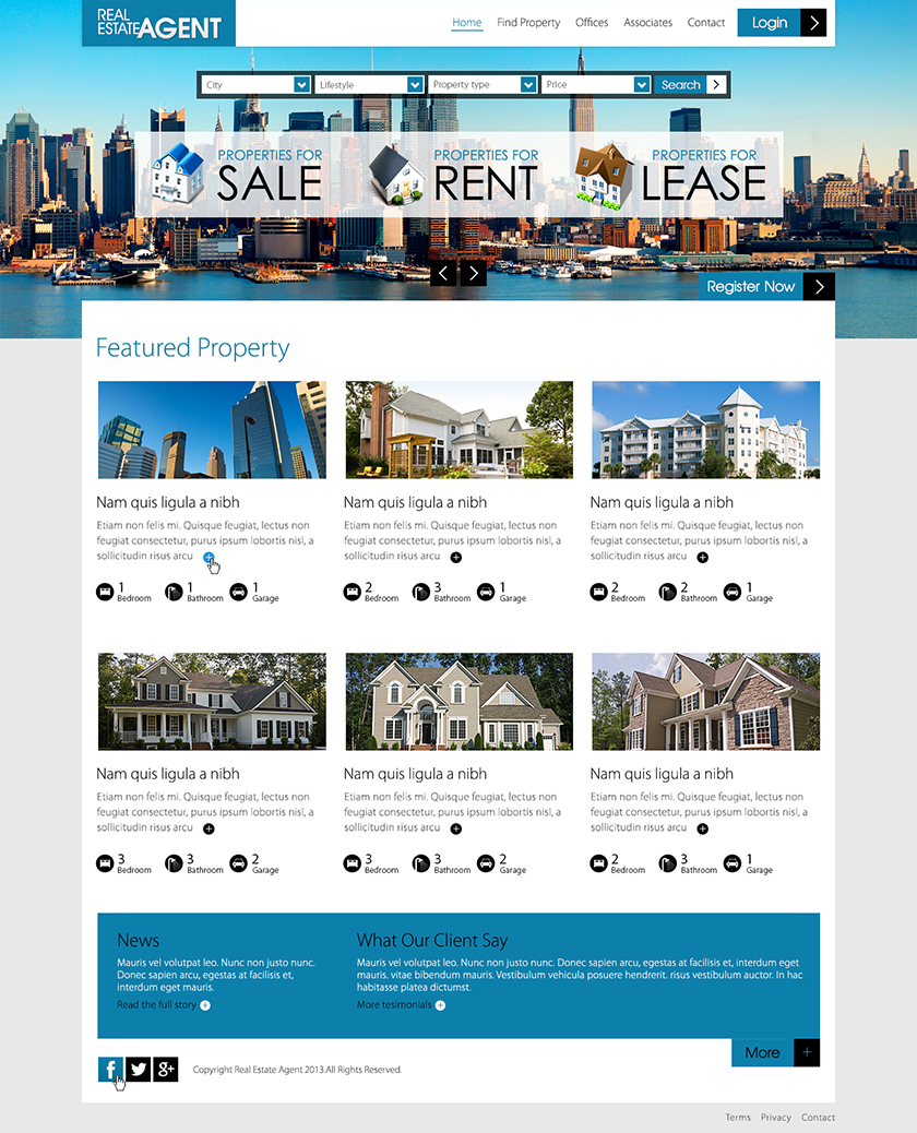 Modern, Professional, Real Estate Web Design for a Company by Latest ...
