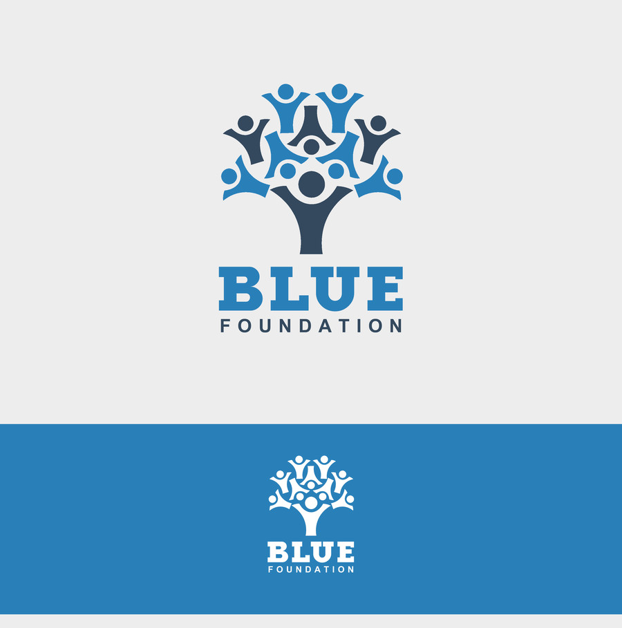 Serious elegant non profit logo design for blue for T shirt printing for non profit organizations