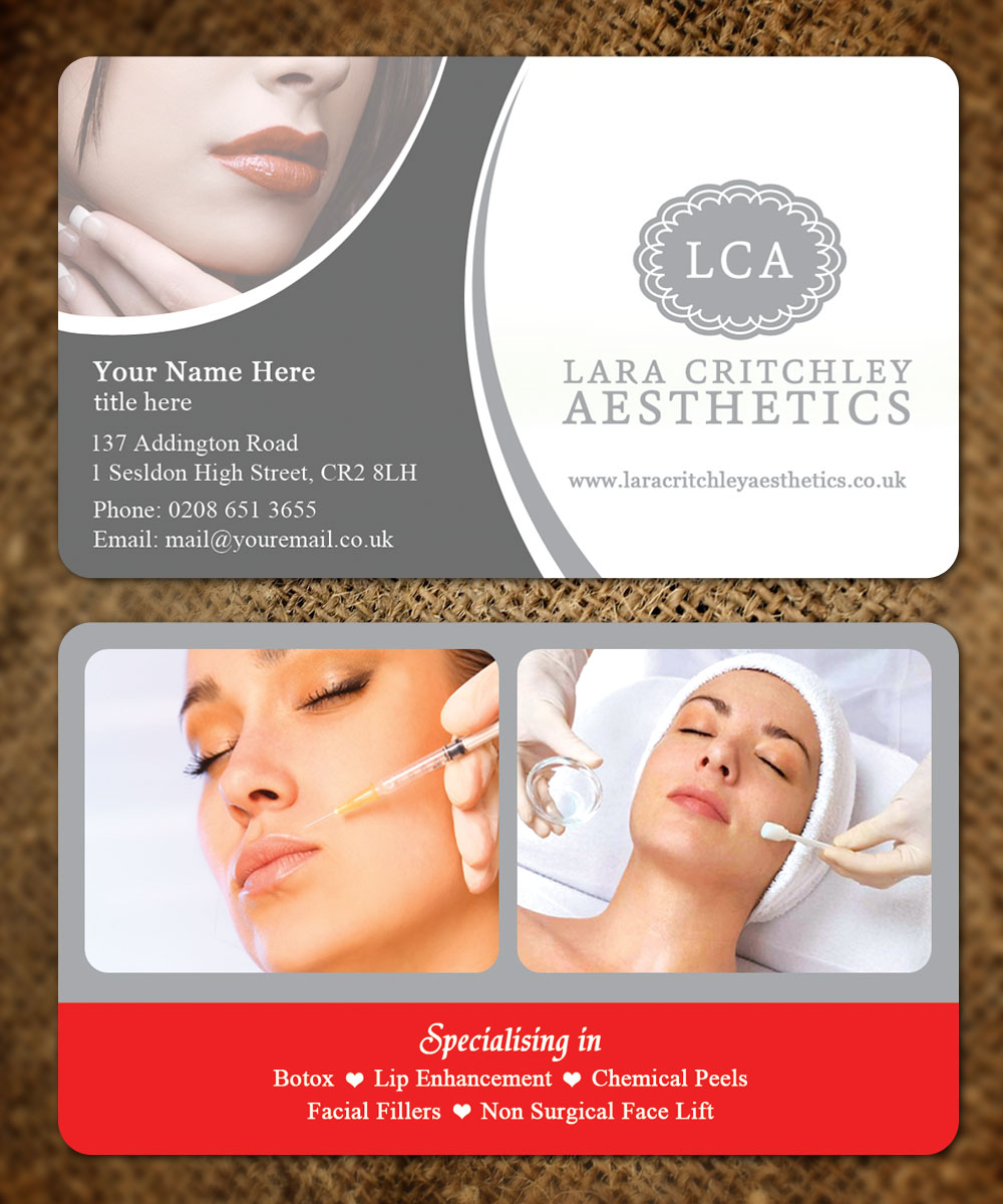 facial business cards gallery business card template. Black Bedroom Furniture Sets. Home Design Ideas