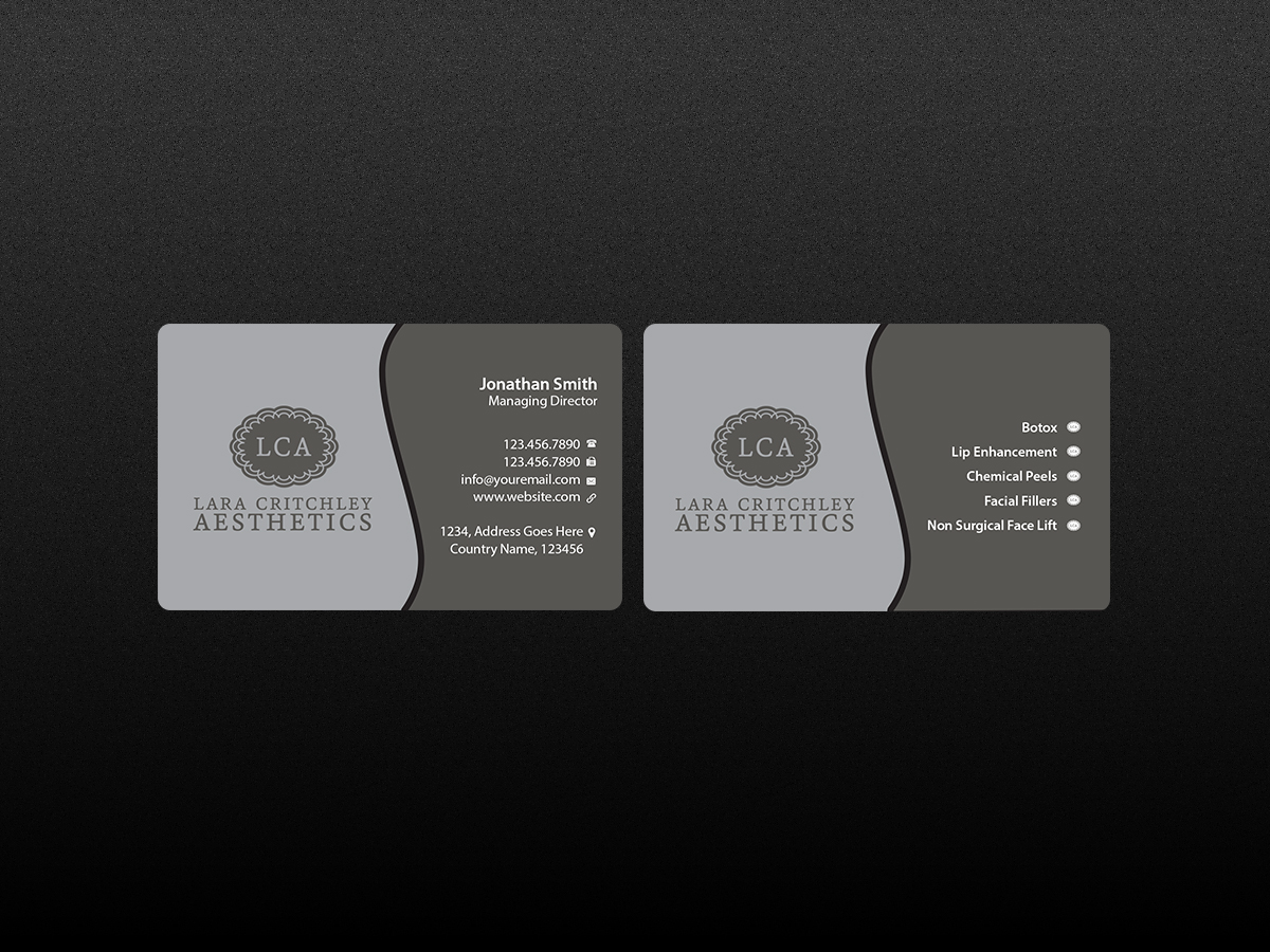 Modern, Elegant Business Card Design for LCA by Creations Box 2015 ...