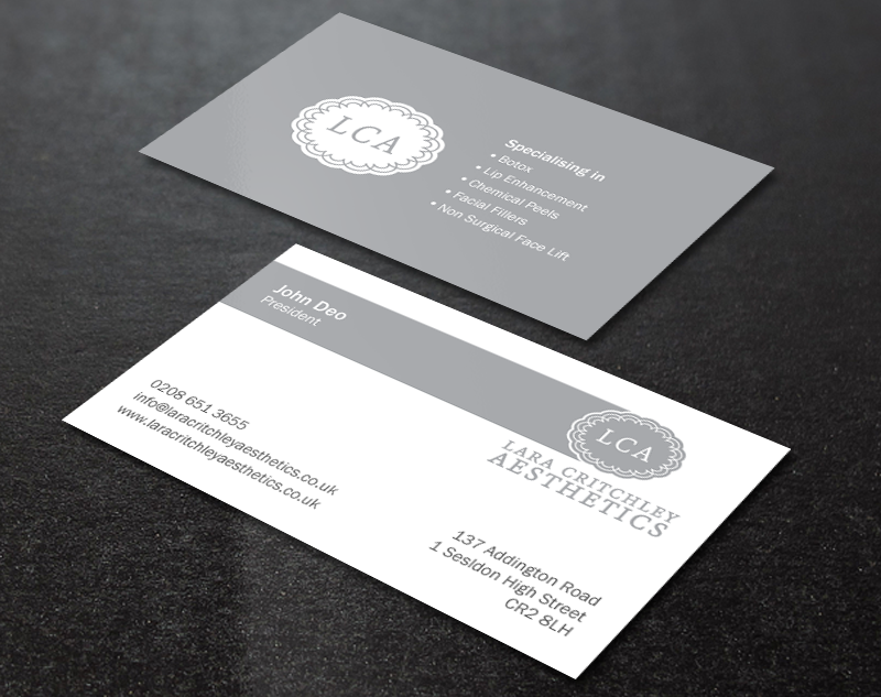 Modern elegant business business card design for lca by brand aid business card design by brand aid for lca design 9260530 reheart Images